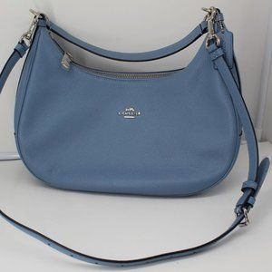 Coach Pebbled Leather Silver/Pool East West Hobo